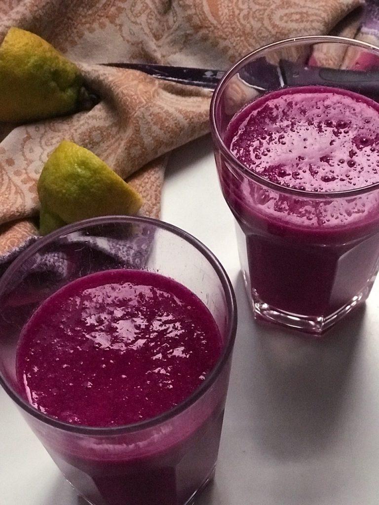 Sumo de fruta e legumes